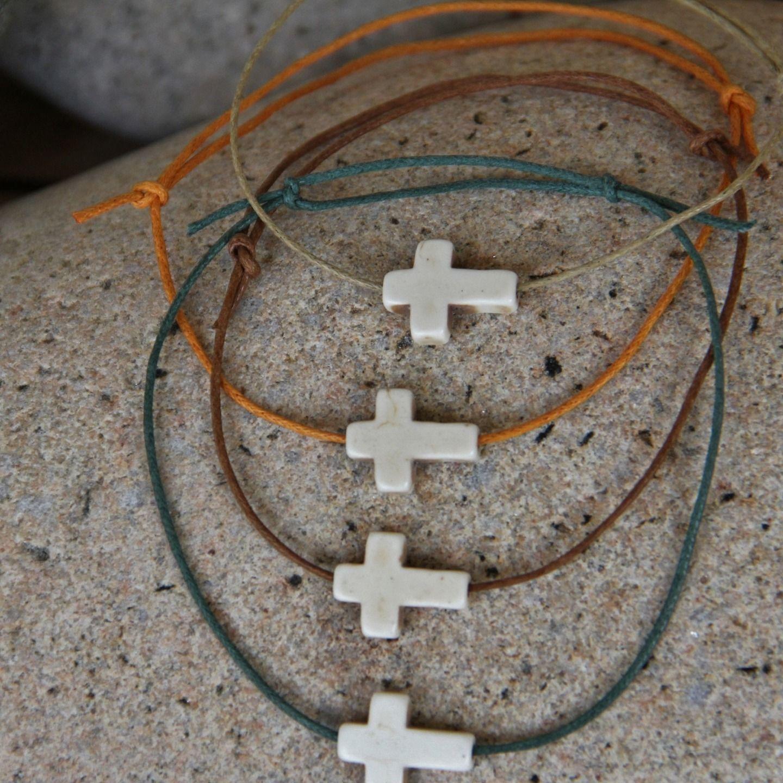 4 COLORIS disponibles très ajustable Bracelet cuir TRESSE et corde cirée