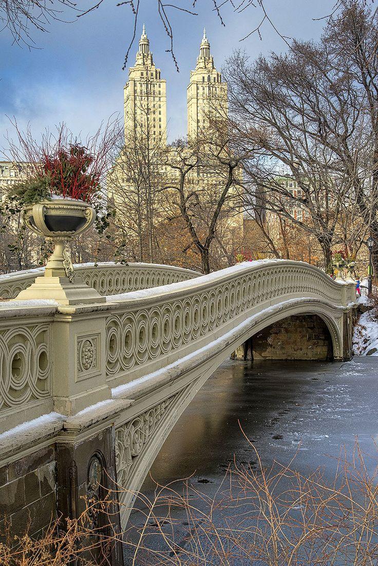 Bow Bridge, Central Park. New York City. Reisen, Schöne