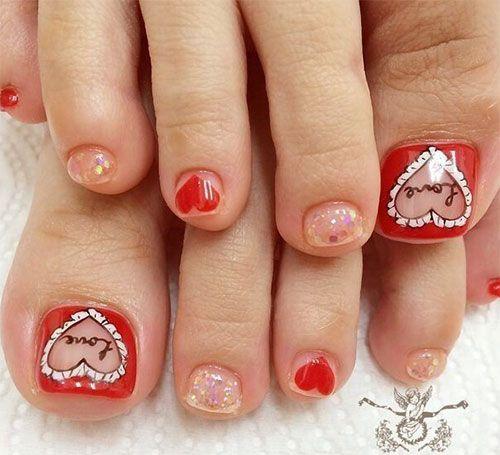 Valentines Day Toe Nail Art Designs Valentine S Day Toe Nail Art