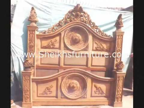 rosewood cora carved chiniote antique bedroom set collection vol 1 ...