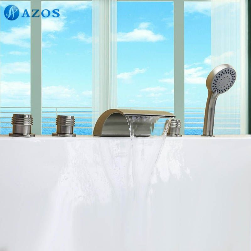 Bathtub Shower Faucets Nickel Brush Bathroom Suana 5pc Sets ...
