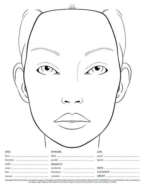 Makeup Face Charts Chart