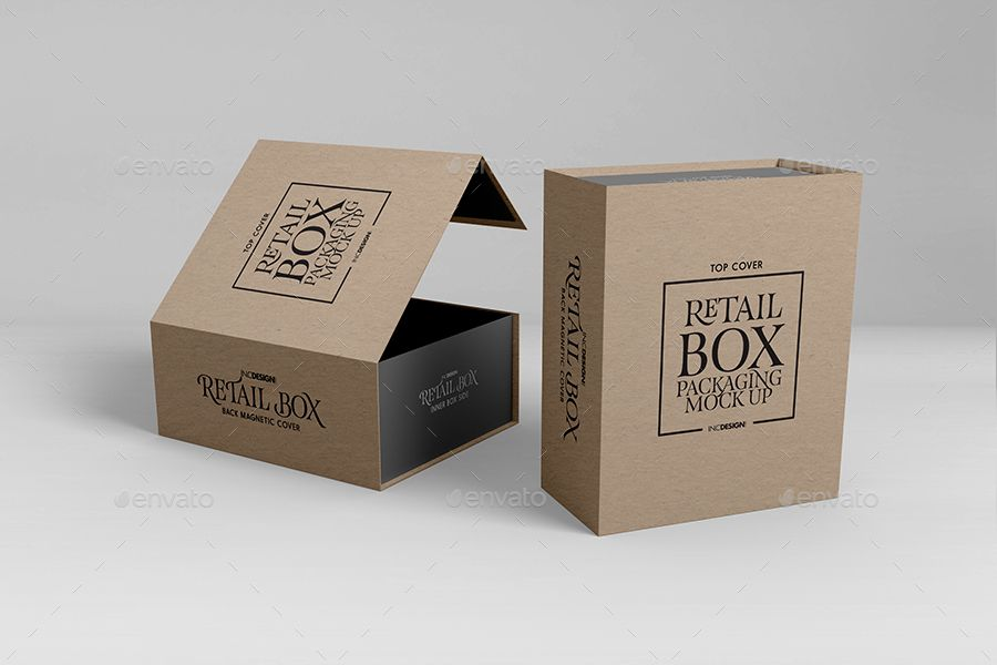 Retail Boxes Vol 4 Magnetic Box Packaging Mock Ups Ad Vol