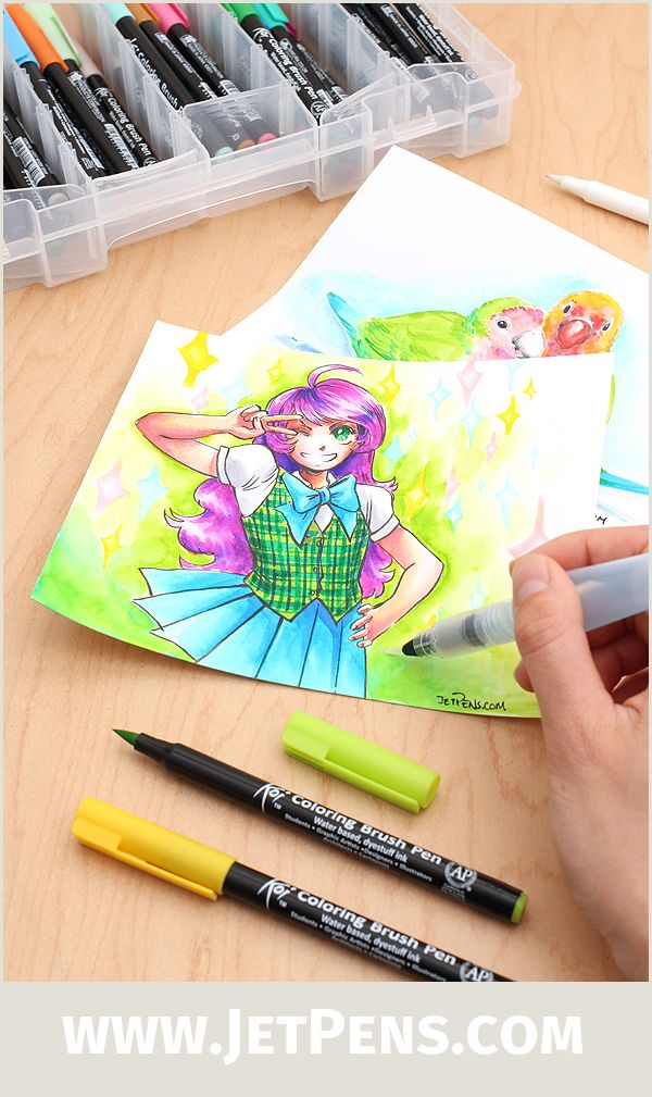 The Sakura Koi Coloring Brush Pens will add vibrant color to your ...