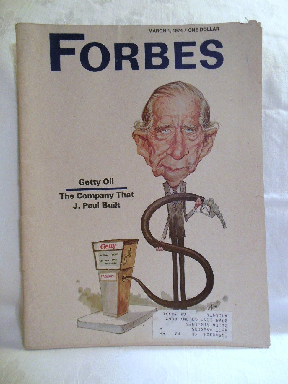 Vintage Forbes Magazine with J. Paul Getty Oil Company - March 1974 ...
