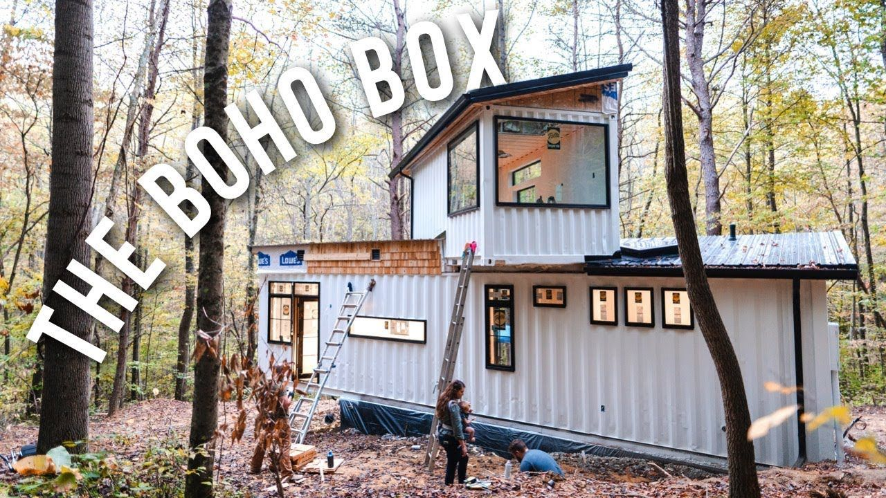 Building A Shipping Container Home The Boho Box Airbnb