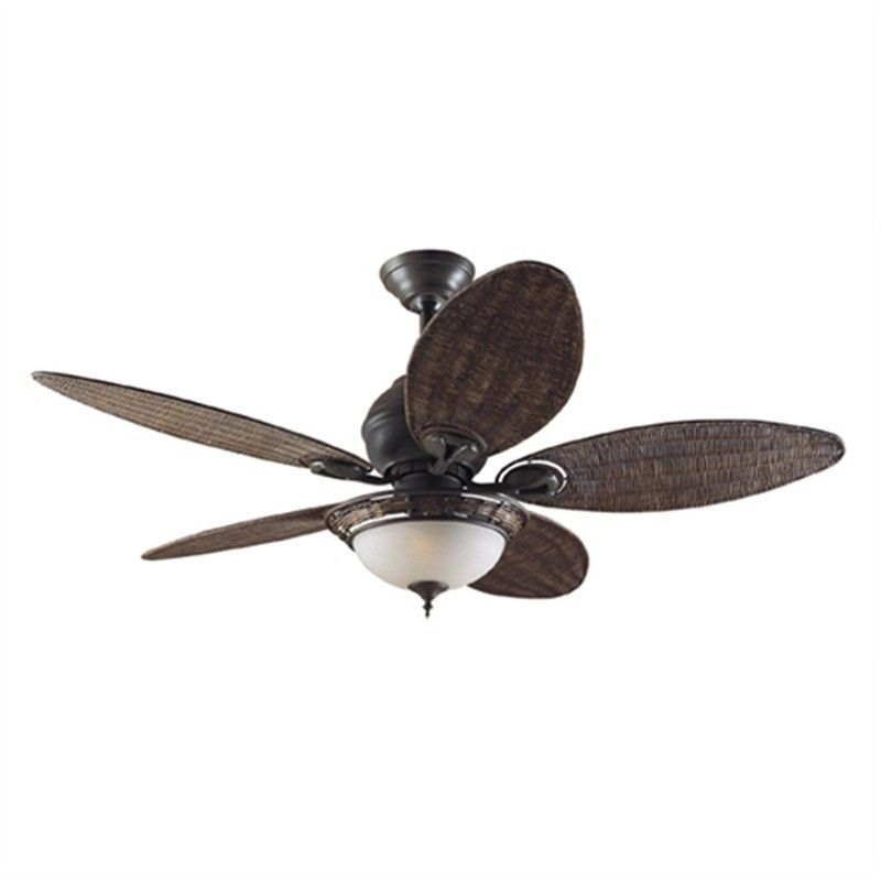 Hunter Caribbean Breeze Commercial Grade Traditional Ceiling Fan With Antique Wicker Blades Ceiling Fan Hunter Ceiling Fans Antique Wicker