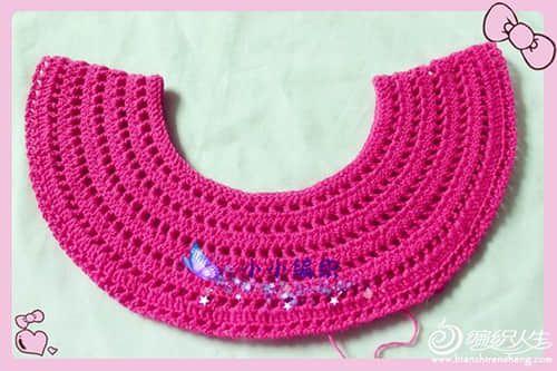 Patron vestido con cuello redondo para niña a crochet02 | Vestidos a ...