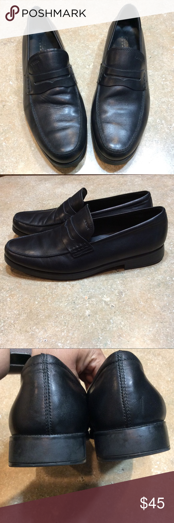 Geox respira black leather loafer   Black leather loafers