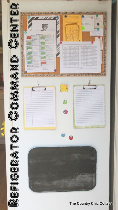 Refrigerator Command Center    A Great Way To Get Your Family More Organized  In The