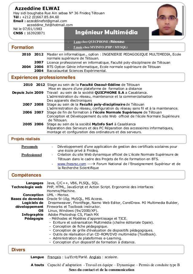 Inspiring Cv Template En Francais Ideas cv template word