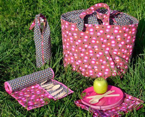 set pique nique patron couture lunch bags pinterest piquer panier et patron. Black Bedroom Furniture Sets. Home Design Ideas