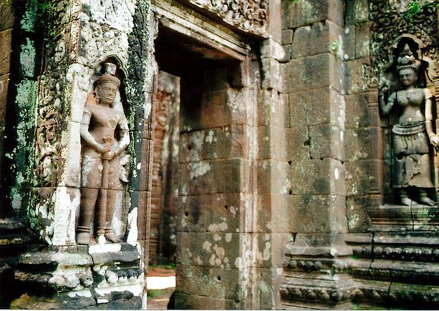 Laos top 10 sites - Wat Phu ruined Khmer temple complex dating 11th-13th centuries. Smaller than Angkor-era sites but the tumbledown pavilions, crocodile stone and tall trees give Wat Phu a mystical atmosphere.