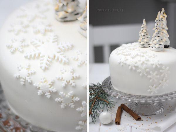 Geburtstagstorte im winter