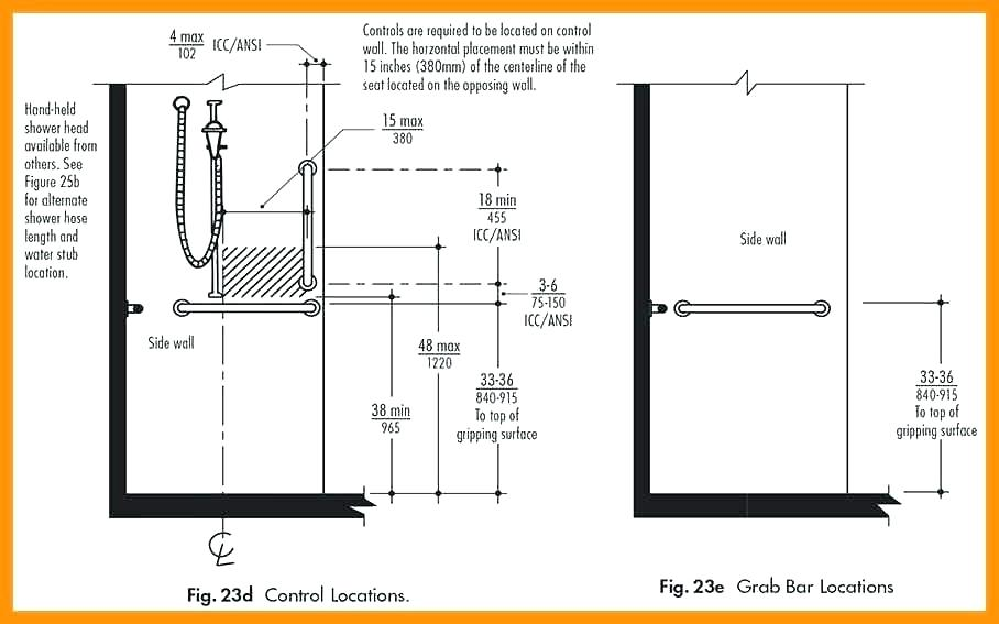 Handicap Shower Dimensions Page ... in 2020 | Shower grab ...