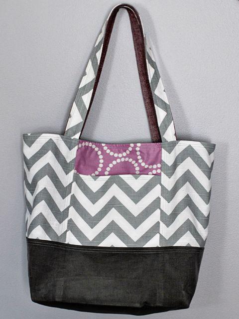 pretty tote!   sew   Pinterest