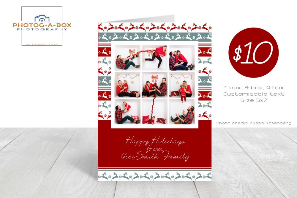 Christmas Card Holiday Card 7x5 1 4 9 Box Photoshop Template Photobox Template Box Design Templates Greeting Card Template Card Templates