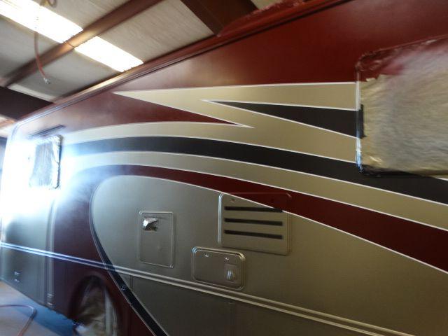 RV Repair Fontana Ca RV fiberglass repair Prevost hail damage