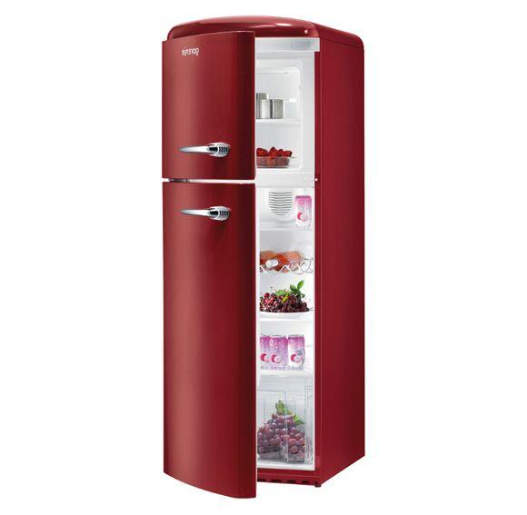 Gorenje Retro Fridge Freezer in Burgundy Red   Retro Kitchen ...