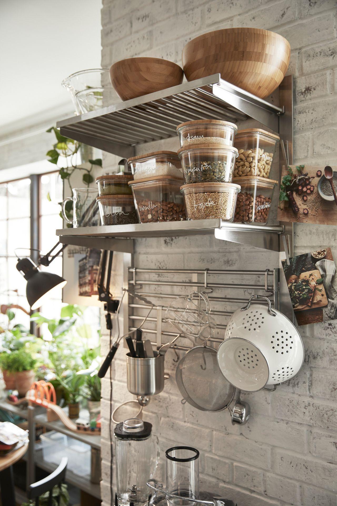 365 Vorratsbehalter Mit Deckel Rund Glas Glas Bambus Ikea Deutschland Haus Kuchen Landhauskuche Und Kuche Einrichten