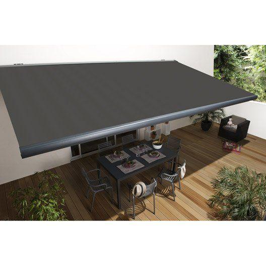 Store Banne Motorise Gold Coffre Integral 6 X 3 5 M T126 Gris Graffite Stores Exterieurs Auvents Maison Creation De Terrasse