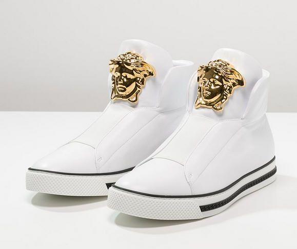 e6148b2262a1a Versace PALAZZO Baskets montantes bianco oro prix Baskets homme Versace  Zalando 780,00 €