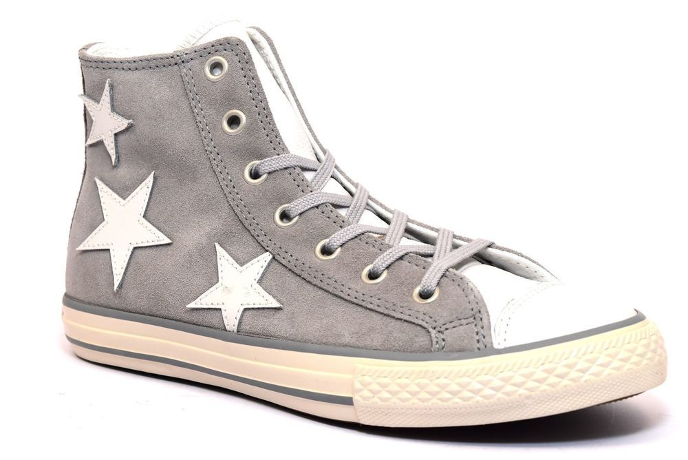 converse di pelle donna alta all star