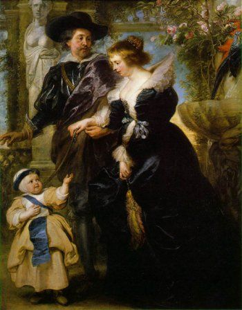 Peter Paul Rubens, Rubens, His Wife Helena Fourment, and Their Son Peter Paul, 1639, oil on wood, 204 x 158 cm (Metropolitan Museum of Art, New York)