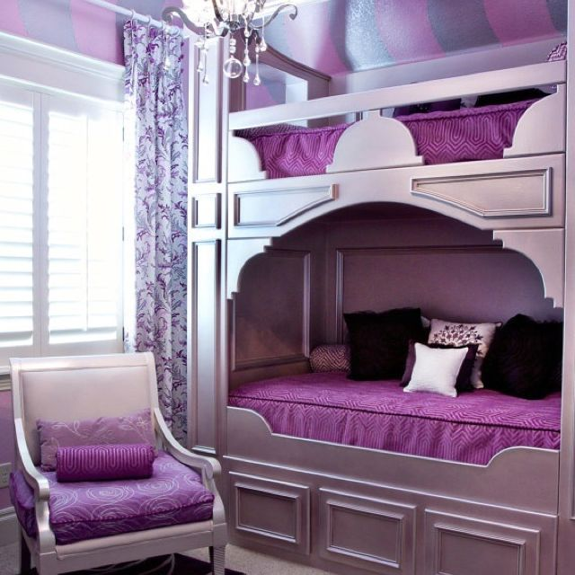 Fancy Bunk Beds Teen Rooms Girls Bedroom Furniture