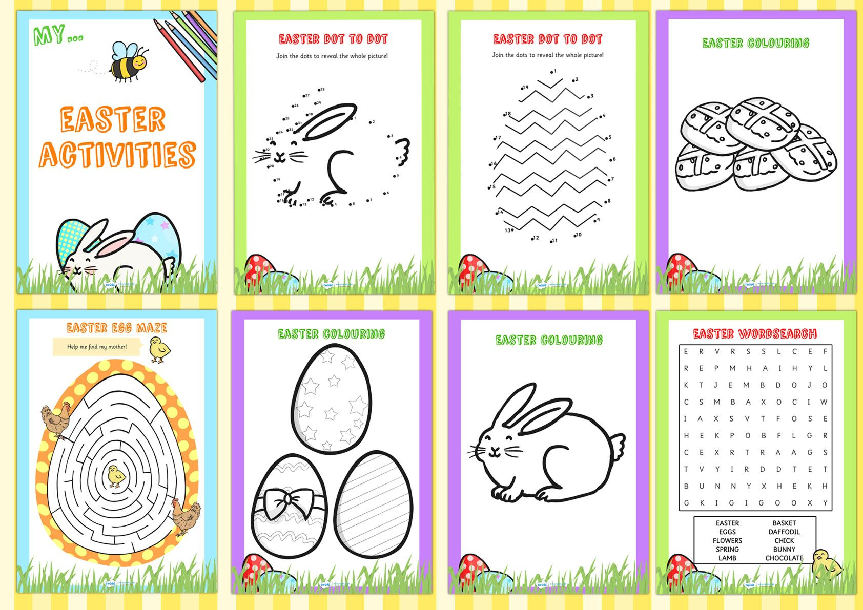 Easter Activity Booklet Pop Over To Our Site At Www Twinkl Co Uk And Check Out Our Lovely Easter Primary Te Easter School Easter Activities Easter Printables
