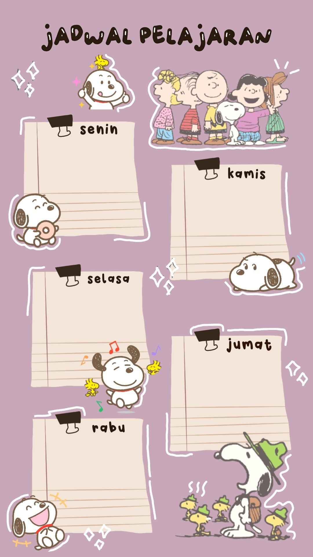 snoopy in 2021 photo collage template bullet journal