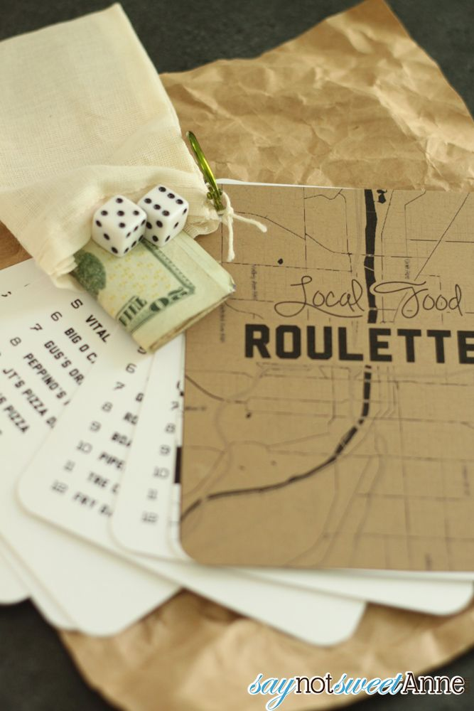 DIY Gift - local food roulette