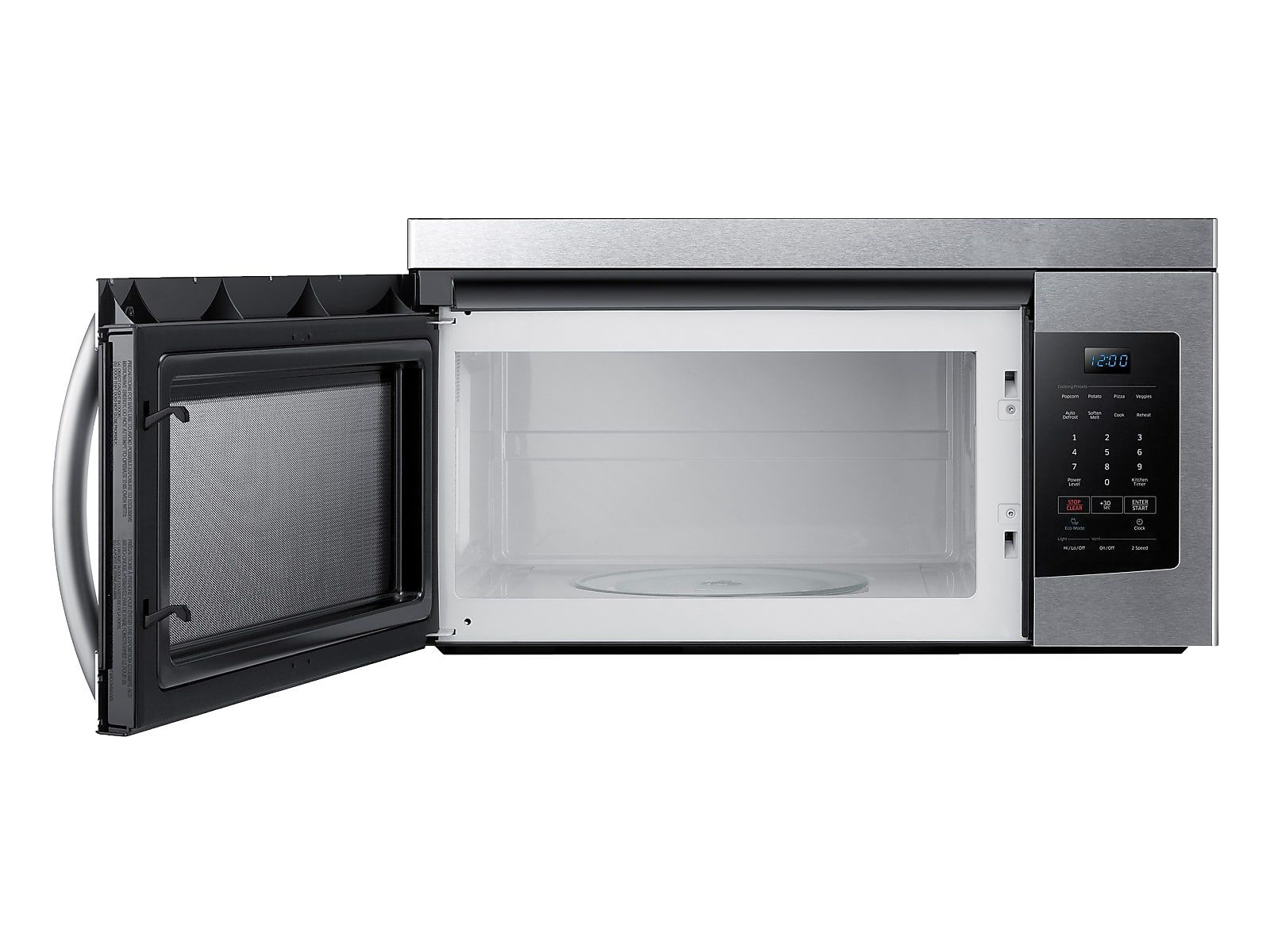Samsung 1 6 Cu Ft Over The Range Microwave In Stainless Steel