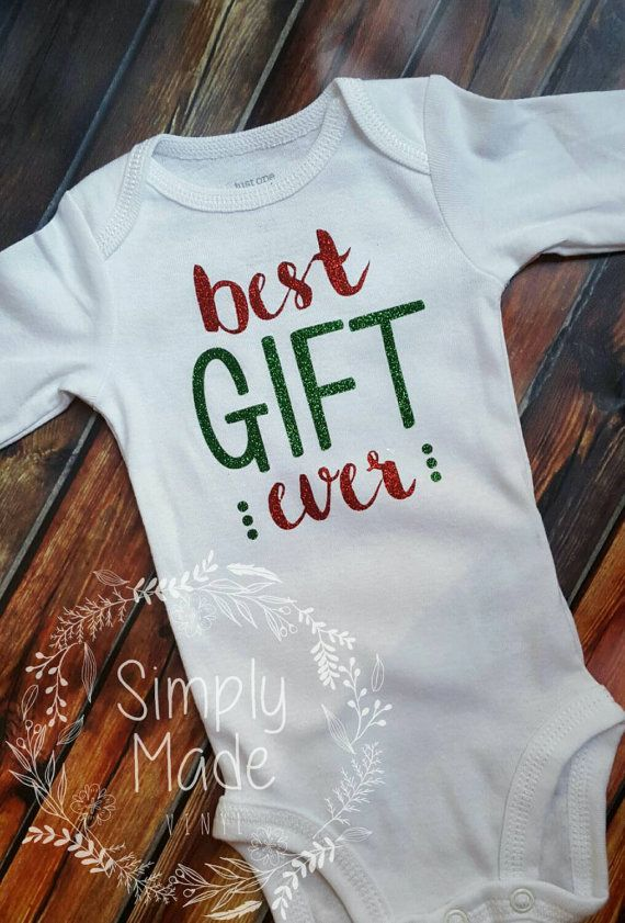 ace7873c8cc9 Best gift ever christmas onesie or pregnancy announcement. New baby coming  home outfit https