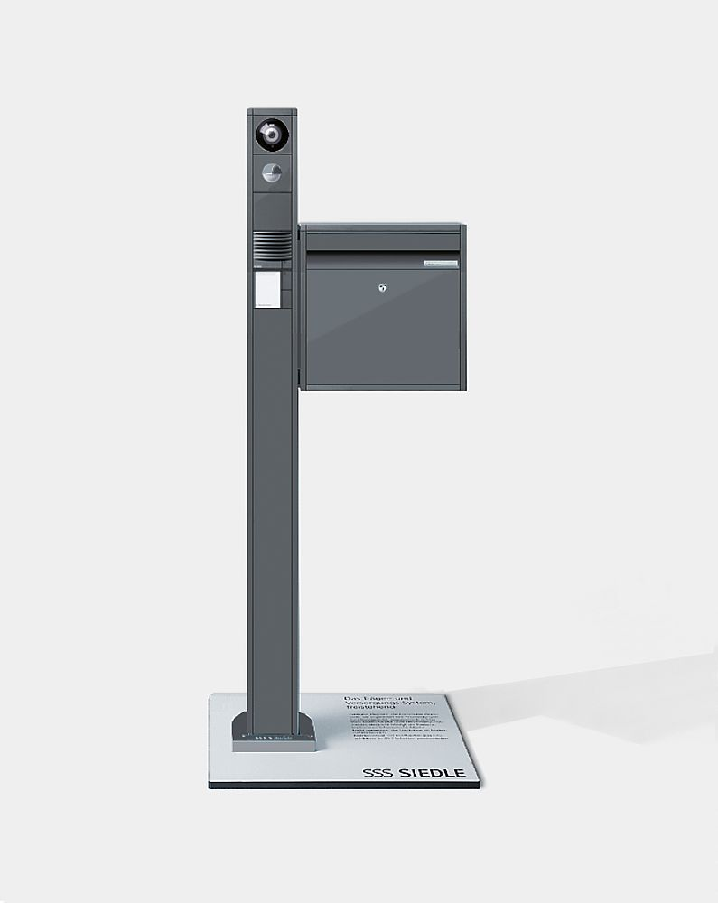 siedle vario pedestal with letterbox intercom nyc siedle. Black Bedroom Furniture Sets. Home Design Ideas