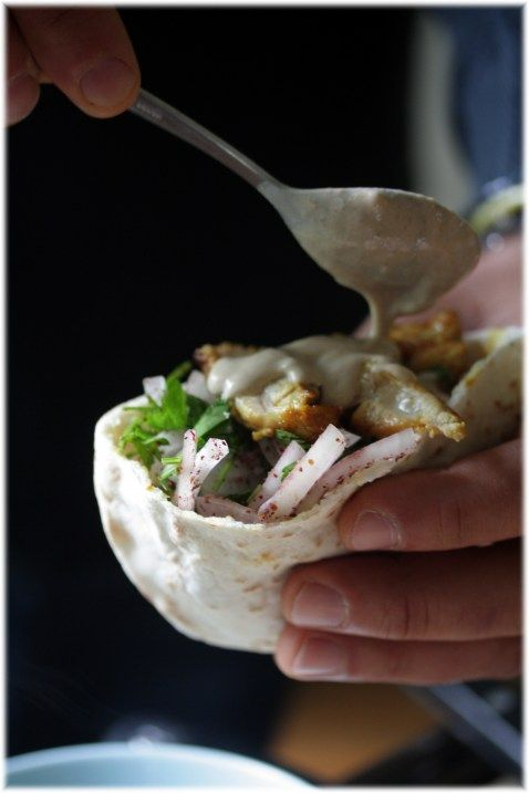 Chicken Shawarma Was Great I Used Tzatziki Sauce From Guy On Food