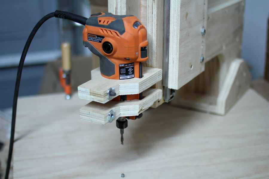 Nice homemade overhead pin router | Router, Router bit ...