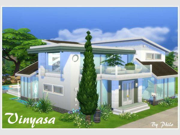 Vinyasa house (no CC) by philo at TSR via Sims 4 Updates