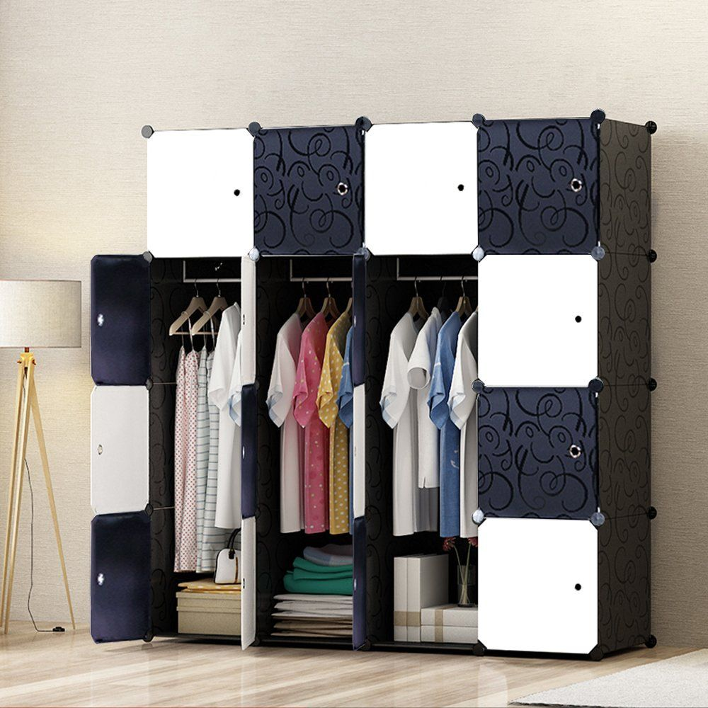 MEGAFUTURE Portable Wardrobe For Hanging Clothes, Wall Décor, Combination  Armoire, Modular Cabinet For