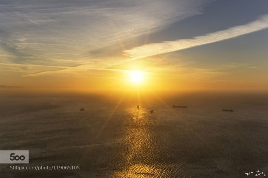 Gibraltar Sunrise by michailchristodoulopoulos #nature