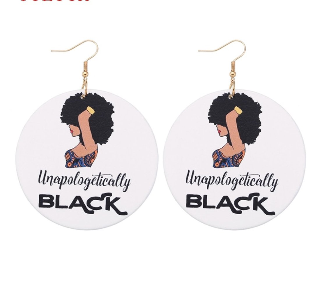 Unapologetically black wood earrings