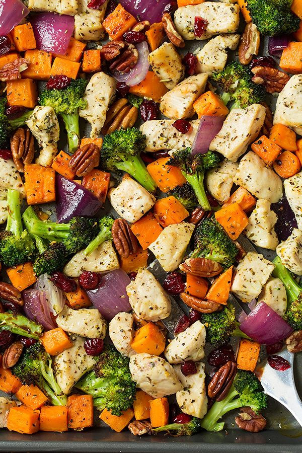 Chicken Broccoli and Sweet Potato Sheet Pan Dinner | Cooking Classy #onepandinnerschicken