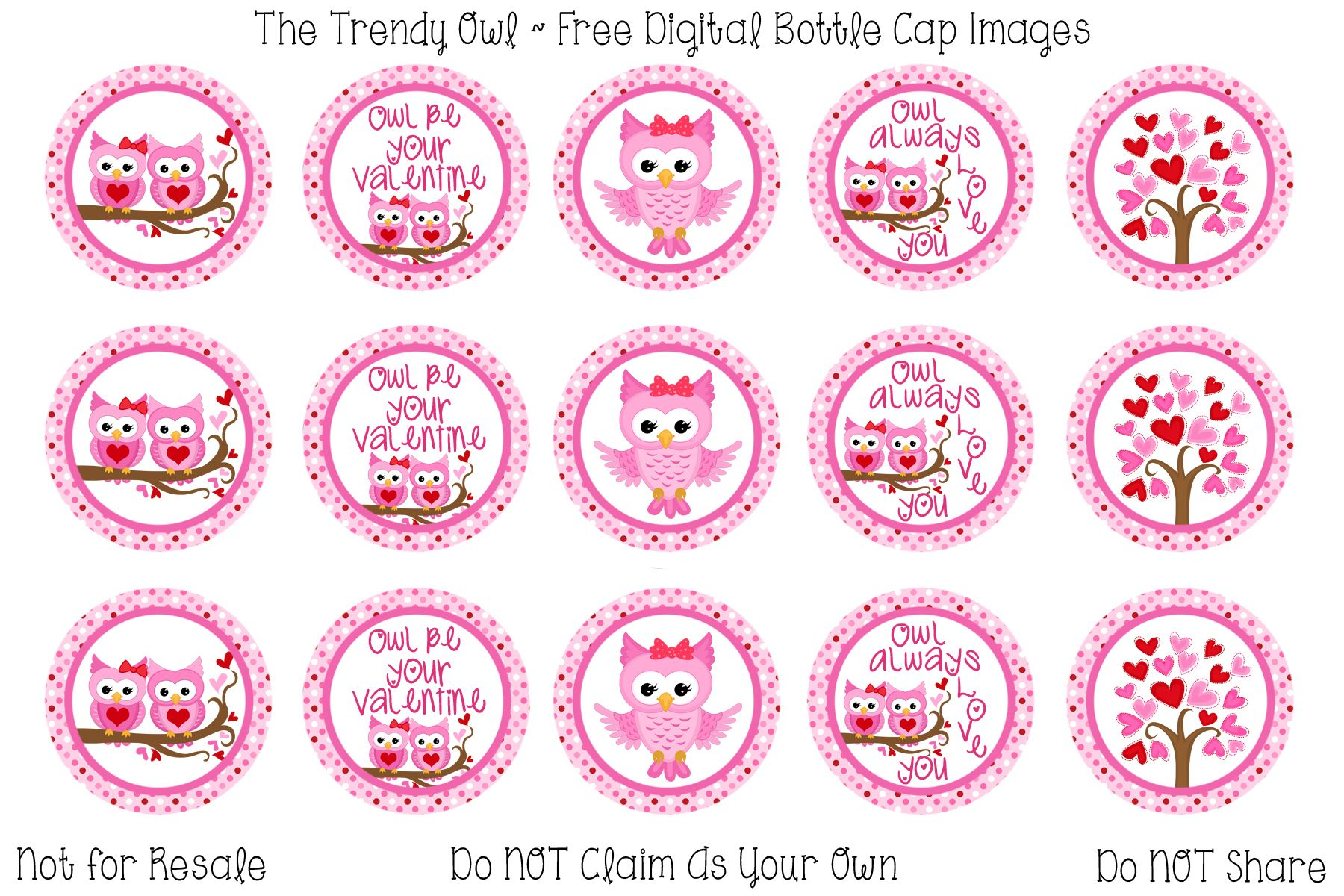 Pin By The Trendy Owl On The Vault Free Digital Bottle Cap