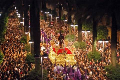 Processions are common in many Spanish-speaking countries during Semana Santa, or Holy Week.
