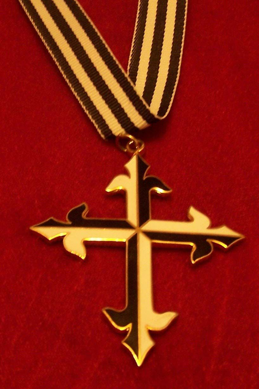 Dominican Cross Pendant Symbolized With The Fleur De Lis On The