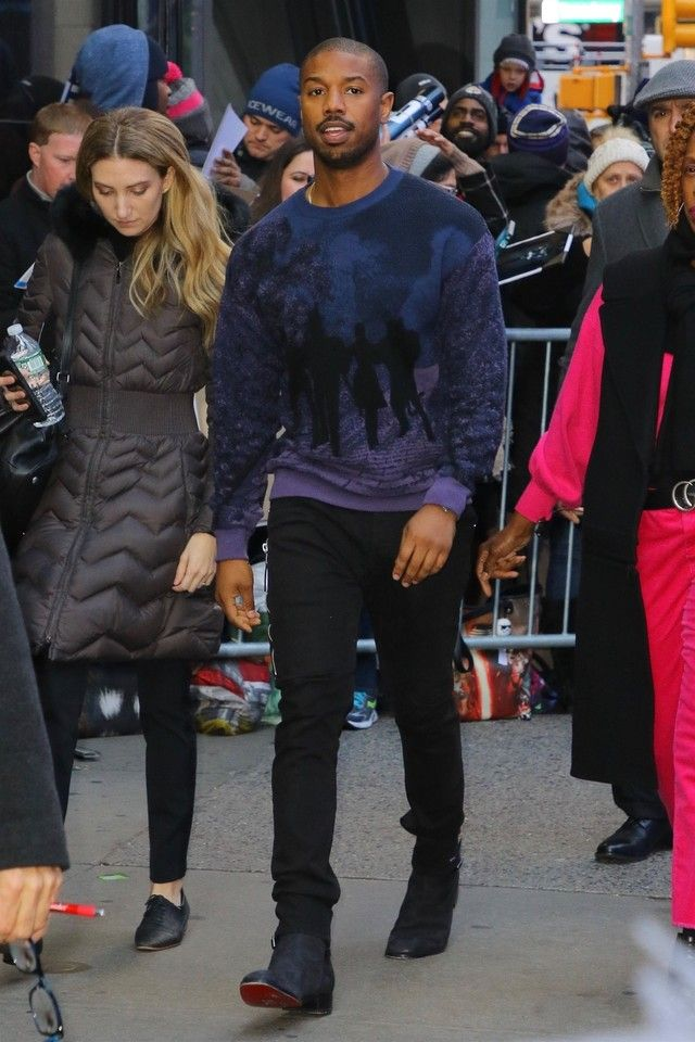 4bb20b7751f Michael B. Jordan wearing Louis Vuitton Spring 2019 Menswear Paris  Collection
