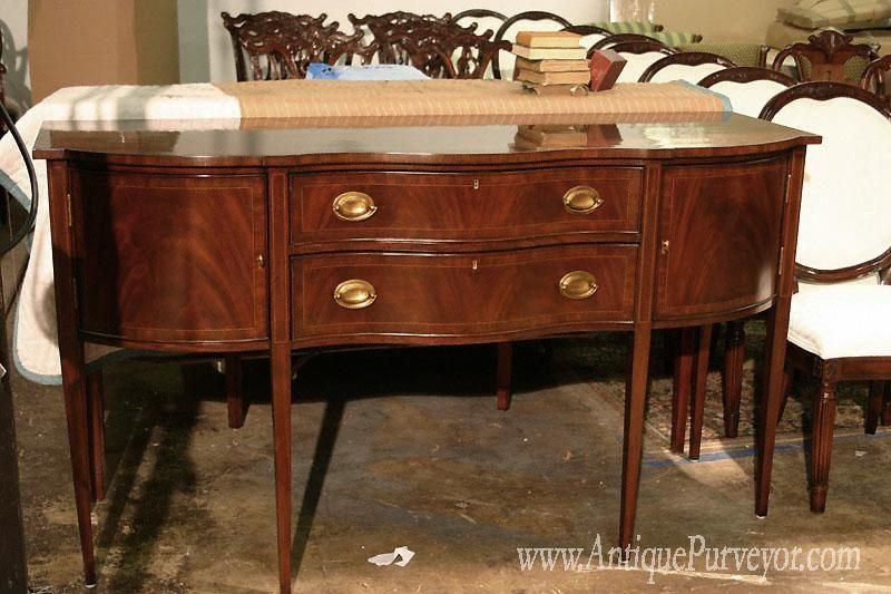 Antique Sideboards  Mahogany Dining Room Sideboard  Federal Impressive Dining Room With Sideboard Inspiration Design