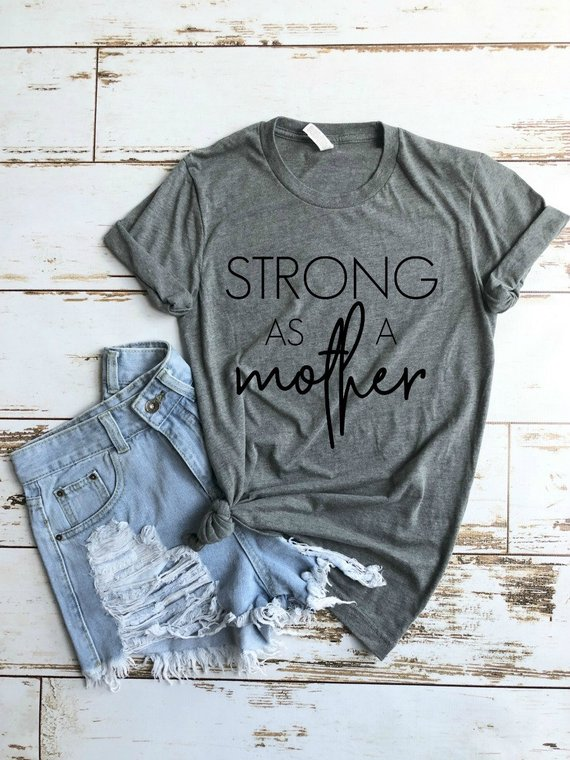 ae3486d8 Strong as a Mother Shirt, Mom AF, Mama Bear Shirt, Mom Life Shirt, MomLife  Shirt, Motherhood Shirt,
