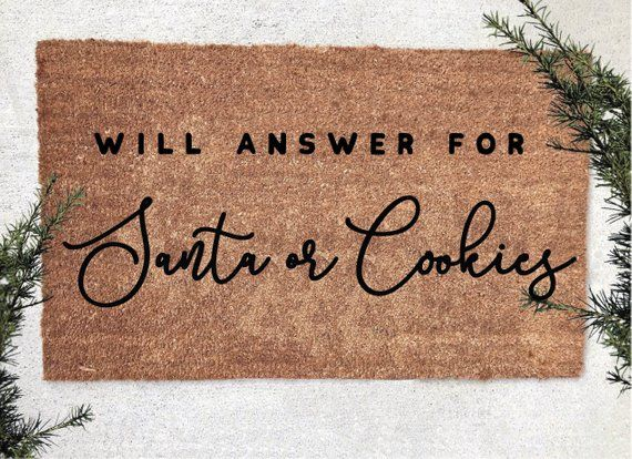 Funny Christmas Welcome Mat Happy Holidays Welcome Mat Funny