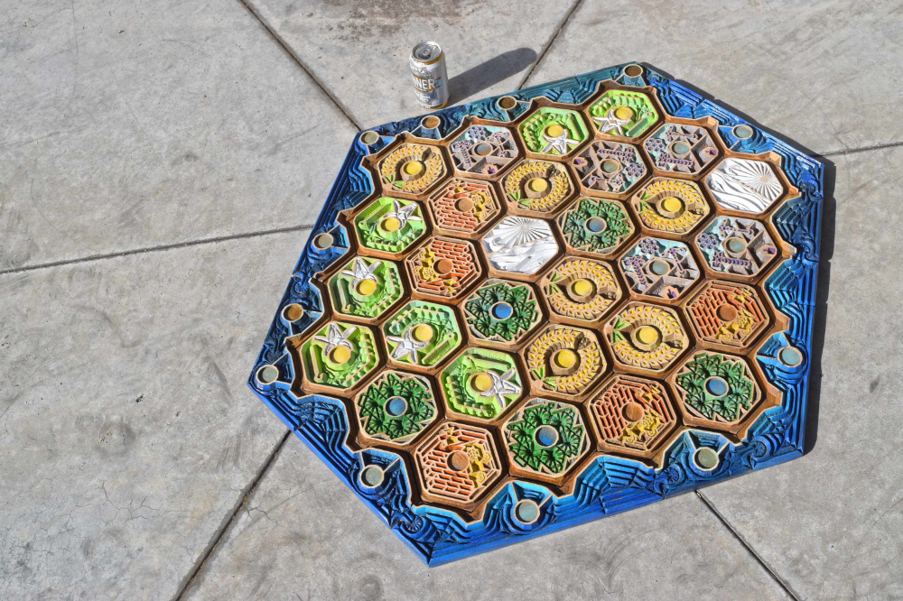 Wooden Settlers of Catan Extension Board